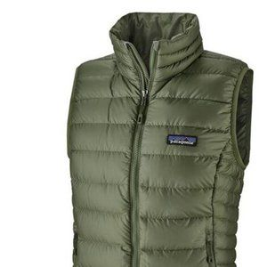 Patagonia Womens Down Sweater Vest Green Small NWT